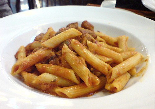 Penne with pork ragu