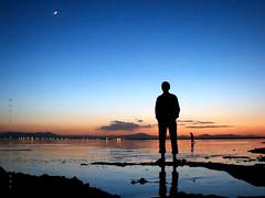 silence (Alieh) Tags: blue sunset lake water persian iran persia iranian  tabriz     aliehs alieh      eastazarbaijan    oroomiehlake iranmapcom