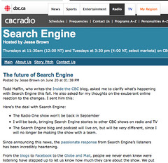 Search Engine | CBC Radio | The future of Search Engine_1214525904539