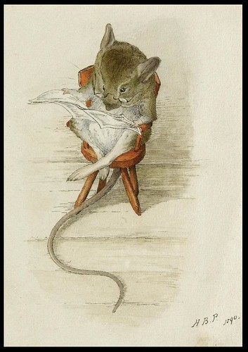 Mouse Reading Newspaper