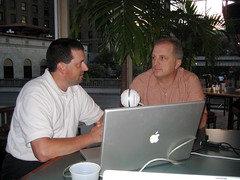 Dean Shareski and Scott Floyd hosting Teachers Teaching Teachers from NECC 2008 in San Antonio, TX