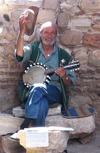 Nice banjo-player