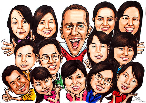 Group caricatures UBS colour