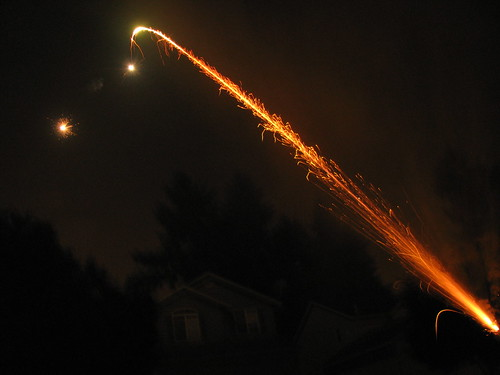 Shooting Roman Candles
