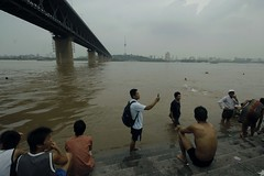 site of Mao's historic Yangtze swim (GraemeNicol) Tags: china city skyline swim river asia historic mao yangtze hebei wuhan yangzi changjiang maozedong wuchang