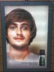 Freakazoid! (gingerbeardman) Tags: boss poster beard ad tube gozzy eyed beardie lynx