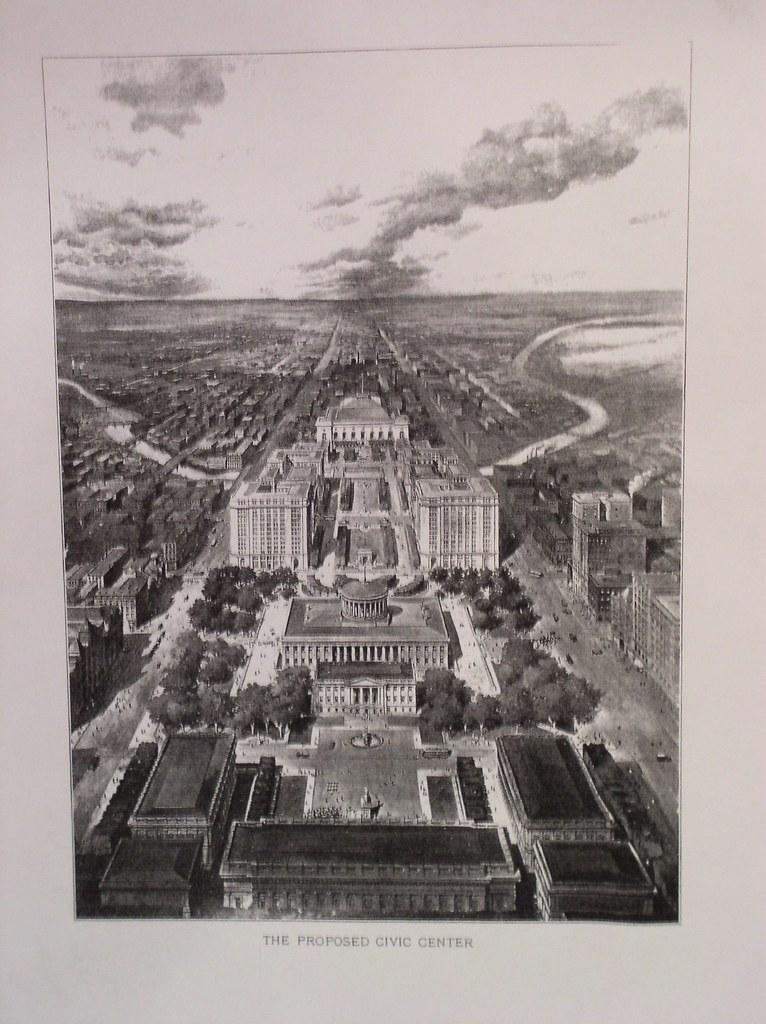 Columbus Ohio civic center concept 1902