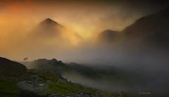 Golden fog (steinliland) Tags: sun mountain fog sheep darksky naturesfinest abigfave topofthefog ultimateshot thebestofday gününeniyisi photoartbloggroup passiondéclic