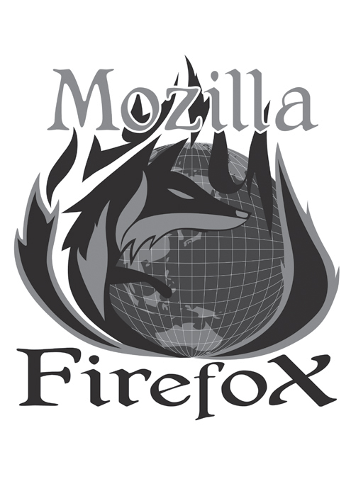 Coloured final firefox logo