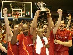 Campeones de la FIBA Cup. Foto: Click Art Foto.