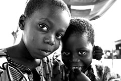 Two boys portrait, Lagos, Nigeria, Africa (E. B. Sylvester) Tags: africa boy portrait bw children kid child lagos nigeria curious afrique ebsylvester