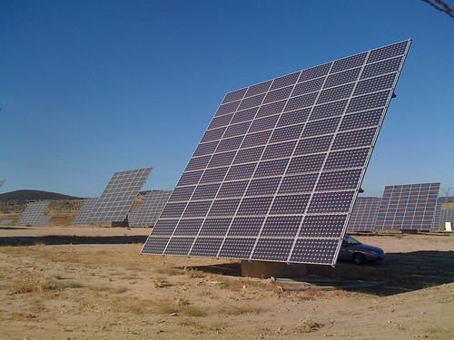 Huge solar panel