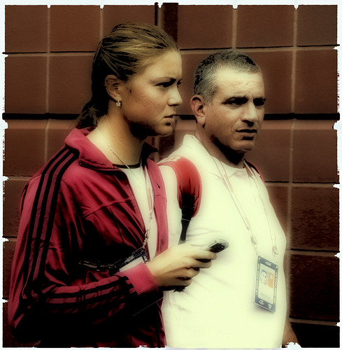 Dinara Safina - Dinara and some goon