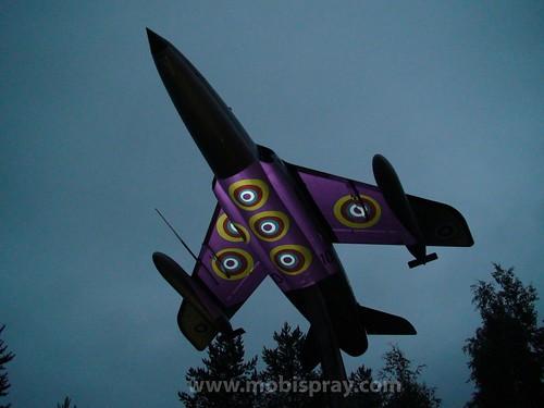 Rovaniemi Military jet mobispraying