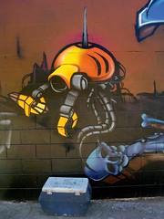 Ice Chest & Robot (See El Photo) Tags: california street city urban 15fav streetart color art wall 510fav skull graffiti robot alley paint grafiti head graf dirty urbanart fantasy melrose scifi bones bone sciencefiction spraypaint graff outerspace claws bot tentacles alleyart grafite clamps 1f icechest faved 涂鸦 444v4f граффити seeelphoto melroseca chrislaskaris 落書きգրաֆիտի