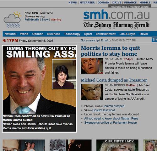 Morris Iemma: Smiling Ass