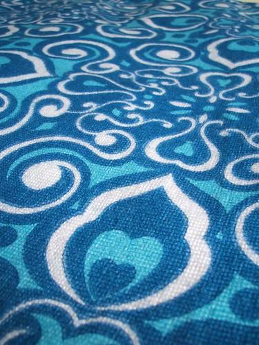 vintage blue fabric