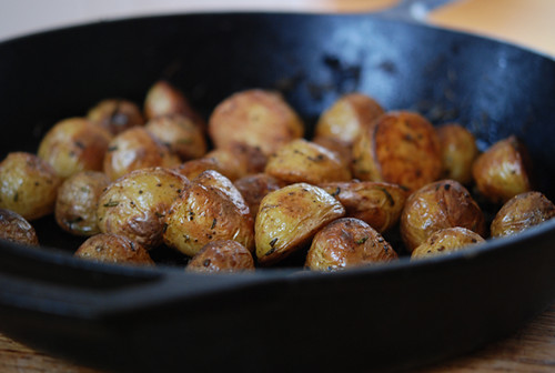 Roasted Yukon Gold Potatoes With Rosemary And Garlic
