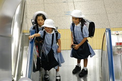 School Girls (Mszczuj) Tags: school girls boy boys students girl japan train subway children japanese tokyo student education uniform classroom class learning okinawa schoolchildren higher institution achieve regimen