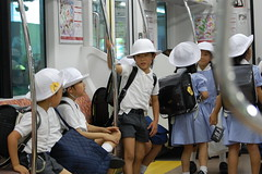 School Children in Japanese Subway (Mszczuj) Tags: school girls boy boys students girl japan train subway children japanese tokyo student education uniform classroom class learning okinawa schoolchildren higher institution achieve regimen