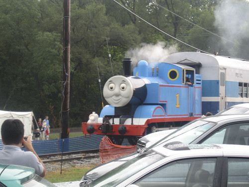 thomas pulling the train