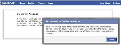 Baja permanente de Facebook