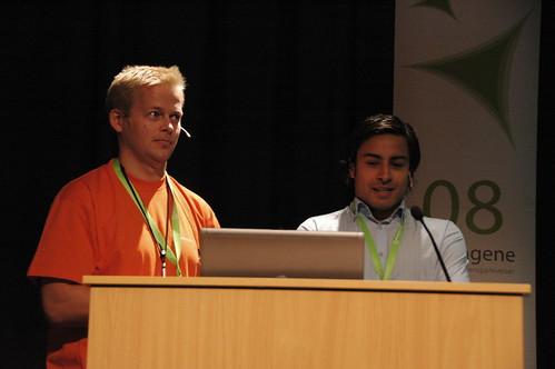 Karl Philip Lund fra IxD og Ricky Sookermany fra Confex