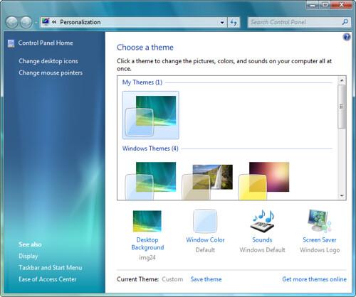 Personalização de Desktop no Windows Seven