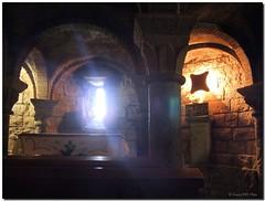 Light in the crypt / Luz en la cripta (SantiMB.Photos) Tags: longexposure espaa church spain huesca catholic iglesia altar bec romanesque magical crypt cripta sobrarbe catlico romnico aragn largaexposicin ansa abigfave betterthangood vacaciones2008