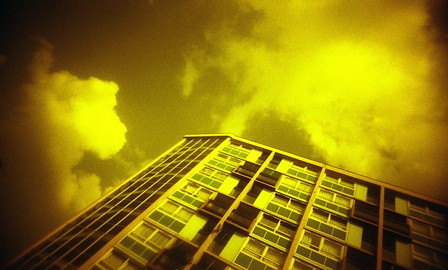 Vivitar Ultra Wide & Slim + Blue filter on Kodak Gold 400 35mm