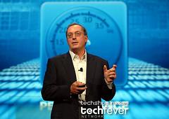 Opening day at OracleOpenWorld 2008,  Intel CEO Paul Otellini keynote