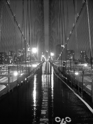 My Rainy Walk Across the Brooklyn Bridge