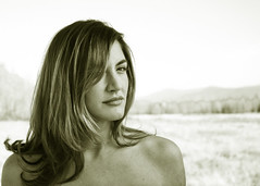 That Look (jibfu) Tags: she beautiful sepia hair naked portland model pentax bare highlights candace looks but shoulders isnt k10d pentaxk10d