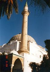 990928Akko_15 (emzepe) Tags: street white israel minaret muslim mosque 1999 east cupola dome middle masjid pasa pasha acre akko kirnduls dzsmi mecset  t utazs izrael sz szeptember kupola aljazzar muzulmn kzelkelet  jezzar isrl  aljezzar  mecsete muszlim yisrel kzelkeleti akk