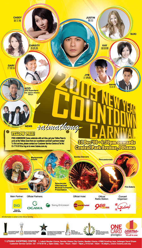 2009 New Year Eve Countdown Carnival @ 1Utama