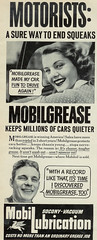 Mobilgrease (Stuff about Minneapolis) Tags: vintage ad mobil advertisement grease lifemagazine lubrication motorists