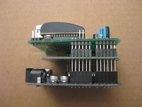 Stacking Arduino, Protoshield, and Ethernet shield