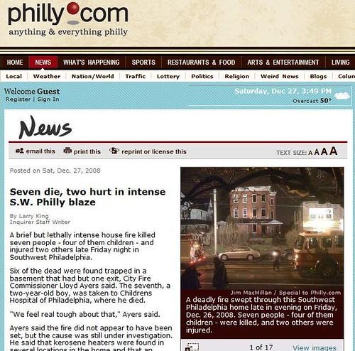 Seven die, two hurt in intense S.W. Philly blaze
