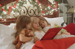 T'was the Night Before Christmas... (momma pope) Tags: santa christmas sisters book emily hannah read card tess nightbeforechristmas