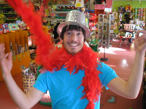 Glitter Top Hat and Feather Boa!