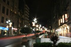 Urzaiz Vigo (Cristopher Santos) Tags: road christmas street lamp night lights navidad luces noche calle exposition nocturna vigo exposicion larga longe urzaiz