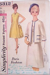 Vintage Simplicity pattern 5312 Size 14 Princess Seaming A-Line Dress with matching Jacket (Sassy By Design) Tags: she vintage clothing 60s flickr pattern sewing womens international jacket cast etsy jackieo size14 alinedress bust34 sassybydesign waist26 hip36 princessseaming simplicity5312