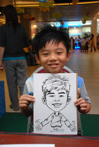 Caricature live sketching for Marina Square Day 2 - 8