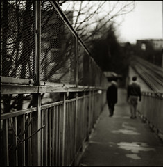 Extradition (sixbysixtasy) Tags: city bridge urban bw london 6x6 metal landscape hasselblad diafine mf analogue hasselblad500cm adox chs50 autaut