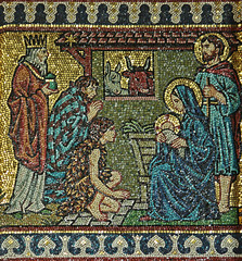 Epiphany mosaic (Lawrence OP) Tags: london westminster lady christ cathedral mosaic jesus birth chapel nativity adoration magi wisemen epiphany blessedvirginmary