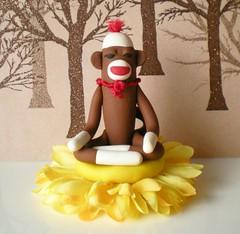 Mini Zen Monkey (SpiritMama) Tags: silly flower monkey meditate lotus buddha buddhist prayer polymerclay zen hanuman sockmonkey meditation hindu whimsical vintagetoy sananda pcagoe waxela spiritmama