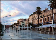 City of Split Waterfront - Riva (Poljeianin ~ Dissapointed!) Tags: croatia split inspire hrvatska dalmatia diocletianpalace 5photosaday mywinners diamondaward travelon5photosaday yourcountry flickrlovers