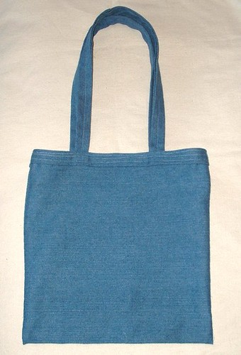 denim book tote