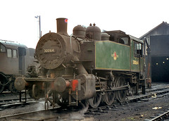 USA 0-6-0T no.30064. Eastleigh shed. 12 June 1965 (ricsrailpics) Tags: southern region 1965 eastleigh 30064 usatank
