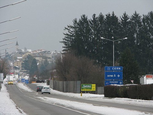 Vía a Meyrin y Ginebra.